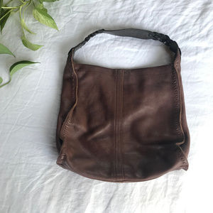 🍀 Lucky Brand Francoise Brown Leather Tote Bag